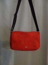Kate Spade Red Nylon Messenger Flap Over Crossbody Handbag purse Computer - £45.84 GBP