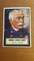 1952 Topps Look 'N See #93 Admiral George Dewey Crease Free - $7.43