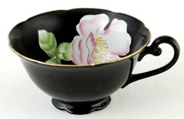 Trimont China Orphan Black Cup Pink Flower Inside Occupied Japan - $5.00