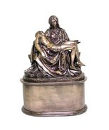 The Pieta Urn Resin Statue, Bronze Finish