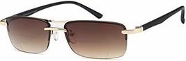 VVDQELLA Bifocal Reading Sunglasses Reader Glasses Metal Half-Frame Read... - $21.65