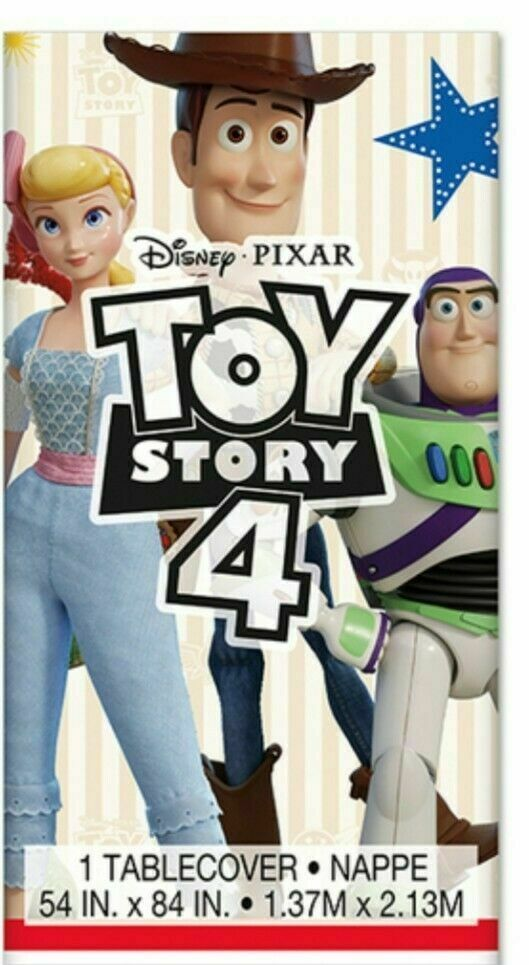 Toy Story 4 Tablecover Plastic 54 x 84 Buzz Woody Bo sealed new!!!