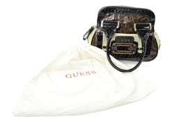 GUESS Brown Black And White Leather Handbag - $37.69