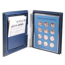 Franklin Mint American Legion Great American Victories 24 Bronze Medals Set - $320.76