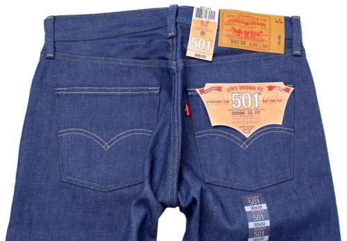 NEW LEVI'S 501 MEN'S ORIGINAL STRAIGHT LEG JEANS BUTTON FLY BLUE 501-1404