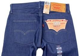 NEW LEVI'S 501 MEN'S ORIGINAL STRAIGHT LEG JEANS BUTTON FLY BLUE 501-1404