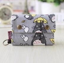New Anime Japan Totoro Cat Wallet Pouch Case Short Canvas Mo 5 D0P - $13.63