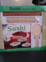 Mud Puddle Books SUSHI Book & 6 Piece Kit - Rice Paddle, Rolling Mat, Ch... - $9.86
