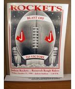 Program Book Judson Rockets vs Rossevelt Rough Riders October 11 1996 - $11.69