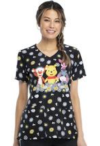 Winnie The Pooh Cherokee Tooniforms Disney V Neck Medical Scrub Top TF614 PHUN - $24.97+