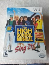 Wii High School Musical Sing It Logitech Microphone & Game 2006 NIB SEALED - $7.85