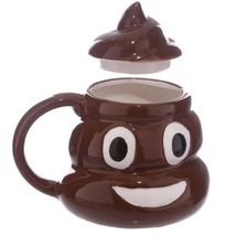 3D Funny Kuso Shit Mug Ceramic Coffee Cup Kawaii Emoji Tea Cup - $34.74