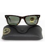 New Genuine Ray Ban 2140 902 Tortoise Havana Wayfarer Sunglasses Green L... - $89.05