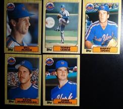 1987 Topps Traded New York Mets Team Set of 5 Baseball Cards (No David Cone) - $2.50