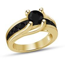 1.15Ct 18K Yellow Gold Finish Halo Diamond Anniversary Engagement Weddin... - £51.95 GBP