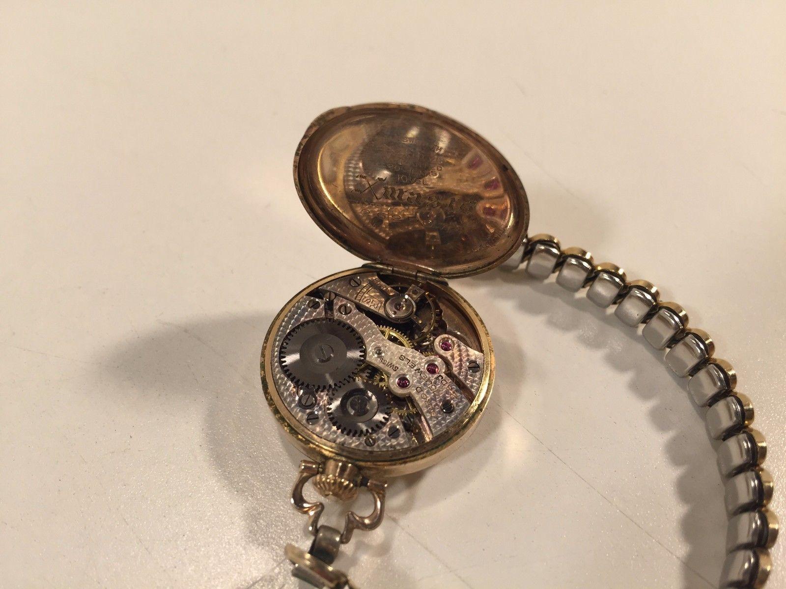 Vintage 1916 Wadsworth Referee Gold Filled 10-1/2L Working 15 Jewels Swiss