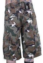 LRG Hombre Caqui Lobo Camuflaje Unnatural Paleta Cargo Pantalones Cortos 28 image 3
