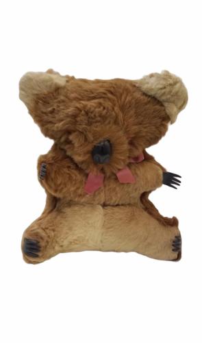 "Vtg Genuine Fur Stuffed Made Australia Australian Koala Bear 11"" Plush Joey Cub"