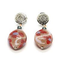 Earrings Antica Murrina Venezia Hanging with Murano Glass Red OR534A11 image 4