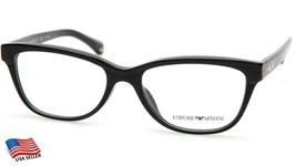 New Emporio Armani Ea 3015F 5001 Black Eyeglasses Frame 53-17-140 B37mm - $44.54