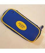 GUESS WATERPRO Watch Case Only EMPTY Blue Yellow Vinyl Logo Protector Zi... - $8.91