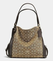 NWT COACH Edie Shoulder Bag 31 In Signature Jacquard Style 33523 w/ Dust... - $169.99