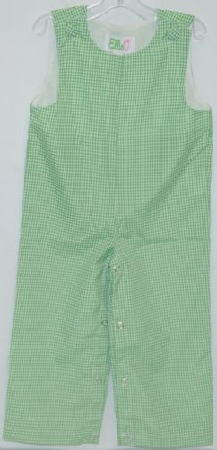 Ellie O Gingham Full Lined Longall Size 12 Months Color Green