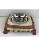Vintage Dezine Pet Dining Dish Hand Painted Ceramic - $23.38