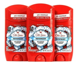 3 Old Spice 2.6 Oz Wild Collection YetiFrost Antiperspirant Deodorant Exp 12/22 - $24.99