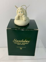 "Dept. 56 Retired Snowbabies ""Angelic Wishes"" Lying Figurine Ornament 56.... - $15.20"