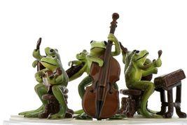 Hagen Renaker Froggy Mountain Breakdown Complete Bluegrass Frog Band 6 Piece Set image 3