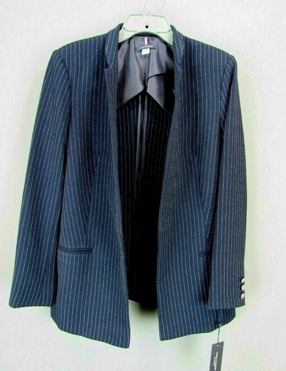 Tommy Hilfiger Women's  Pinstriped Open-Front Jacket MSRP $139 Size 16 image 2