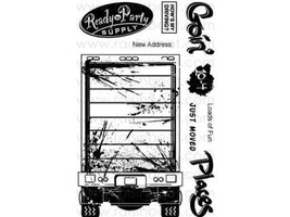 Raisin Boat Big Rig Party Clear Cling Stamp Set #10102