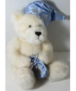 Gund WHITE SNOWFLAKE CHRISTMAS TEDDY BEAR Stuffed Plush SATIN STOCKING C... - $15.58