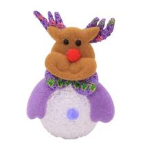 (deer)New Year Gifts Luminous Snowman Elk Pendant Gift for Children Chris - $14.00