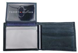 Tommy Hilfiger Men's Leather Canvas Credit Card Wallet Billfold Navy 31TL22X050 image 8