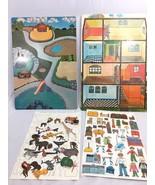 Vintage Uniset Childrens Story Picture Board Vinyl Zoo Animals Mimi Vang... - $33.62