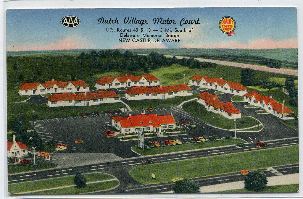 Primary image for Dutch Village Motor Court Motel US Route 40 13 New Castle Delaware postcard