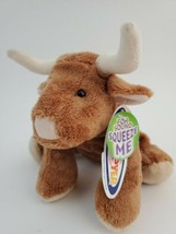 "MARY MEYER Flip Flops Bubba Longhorn Soft Plush Brown Bull 7"" Stuffed So... - $14.70"