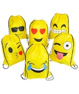 "Rhode Island Novelty 16""x13"" Emoticon Drawstring Backpack (24 Pack) - $31.53"
