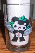Mcdonalds 2008 Beijing China Olympic Fuwa Mascot JINGJING PANDA Glass (Black) - $14.99