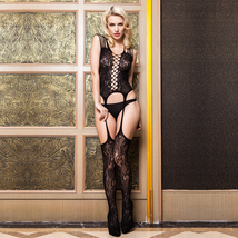 ITCQUALITY SEXY LACE WOMEN BODYSUITS OPEN CROTCH STRAP JUMPSUIT EXOTIC I... - $20.00