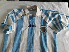 old soccer Jersey maglia camiseta Argentina AFA adidas size 1 ( malas ) - $45.50