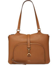 NWT $298 DKNY DONNA KARAN Paris Lg Caramel  Light Brown Tote Handbag - $169.99