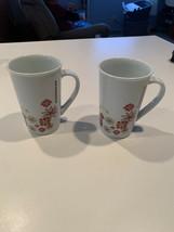 Starbucks Holiday Floral Poinsettia Snowflake Red 12oz Coffee Cup Tall Mug - $19.80