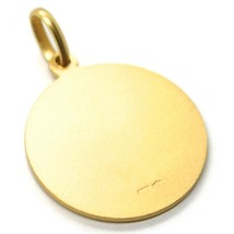 SOLID 18K YELLOW GOLD ROUND MEDAL, SAINT GEORGE, SAN GIORGIO, TWO FACES, 17mm image 2