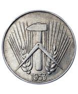 1953-E Germany Democratic Republic 10 Pfennig Coin in XF, KM# 7 - $74.42