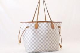 LOUIS VUITTON Damier Azur Neverfull MM Tote Bag N51107 LV Auth 7990 - $598.00