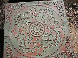 "ANTIQUE ENGLISH FLOWER DESIGN STEPPING STONE MOLD - 24""x 24""x 2.5"" - #SS-2424B  image 1"