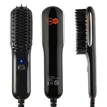 Turbo Bee Straightening Brush, Anti-scald hair and beardstraighteningbrush wit